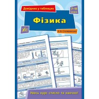 Довідник у таблицях — Фізика. 7–11 класи