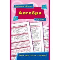 Довідник у таблицях — Алгебра. 7–11 класи