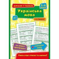 Довідник у таблицях (1-4 класи) — Українська мова. 1–4 класи