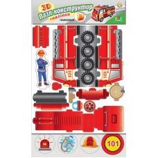 3D Пазл-конструктор+наліпки — Пожежник