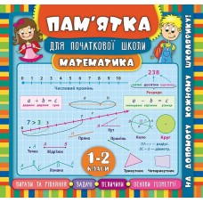 Пам'ятка для початкової школи - Математика. 1-2 класи